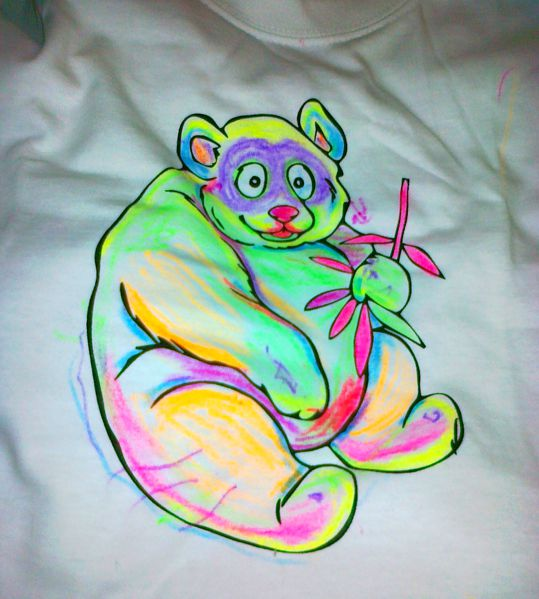 Ilustrační foto, na tričko namaloval Žaba.
