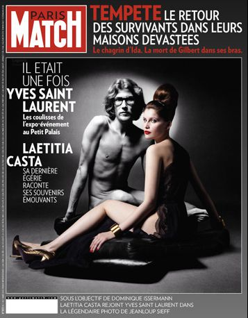 YSL Paris-Match-n-3173-Laeticia-Casta-Yves-Saint-Laurent-final-zdroj parismatch.fr