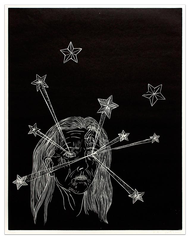 Kiki Smith Clearing, 2012 Woodcut Edition of 13 Zdroj: Barbara Krakow gallery