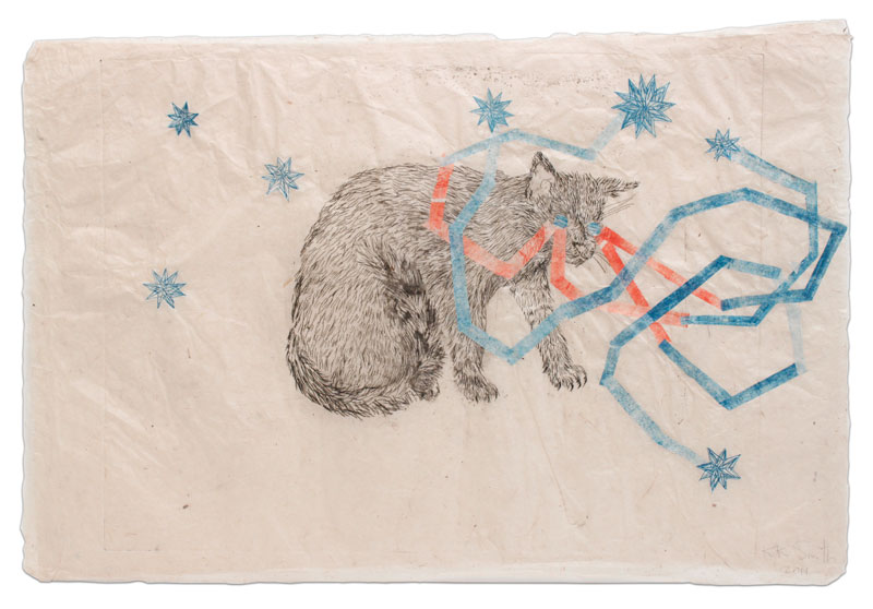 Kiki Smith Night Vision, 2011 Ink on Nepal paper Zdroj: Barbara Krakow gallery