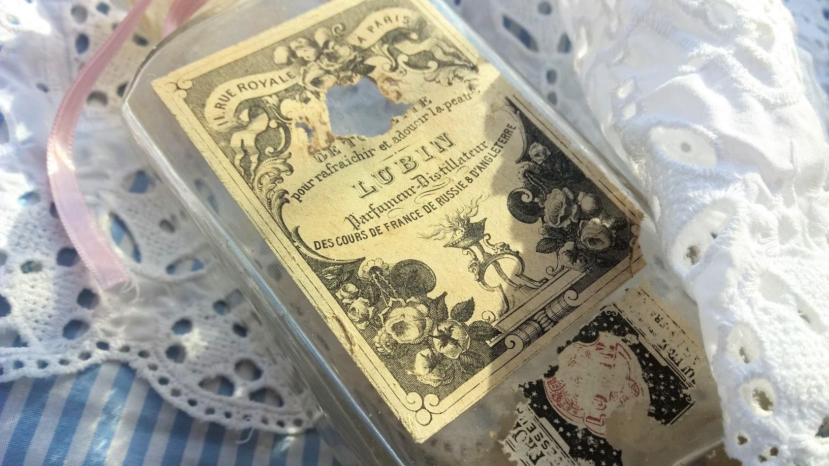 lubin eau de toilette vintage 1807 etiquette